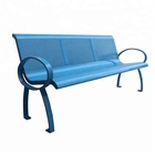 Commercial site furnishings/street furniture perforated metal seating
