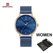 Часы NAVIFORCE для пар, роскошные кварцевые мужские часы, женские простые наручные часы для мужчин и женщин, водонепроницаемые часы для влюбленн...(Китай)