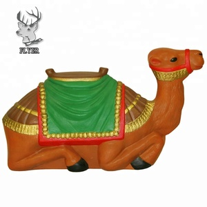 Hot Sale Handmade Painted Resin Camel Figurine Sculpture