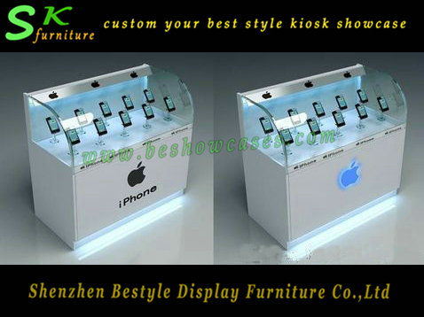 Fashion famous brand mobile phone store furniture,,cell phone display kiosk /cell phone kiosk