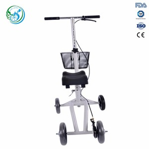 Mini small steel knee walker with PU seat