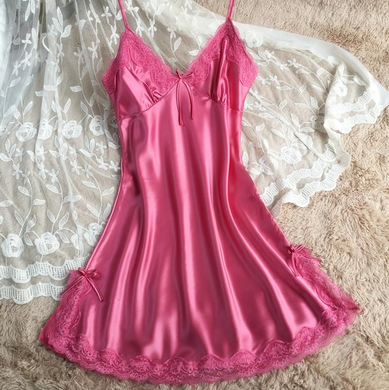 0bc04262a Vestido de noiva Curto Sexy Nighty Verão high-grade condoer seda vestir  pijamas longo roupas