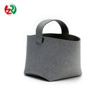 Alibaba China factory new design bulk buy Christmas wool felt firewood storage bag, high quality custom felt firewood basket