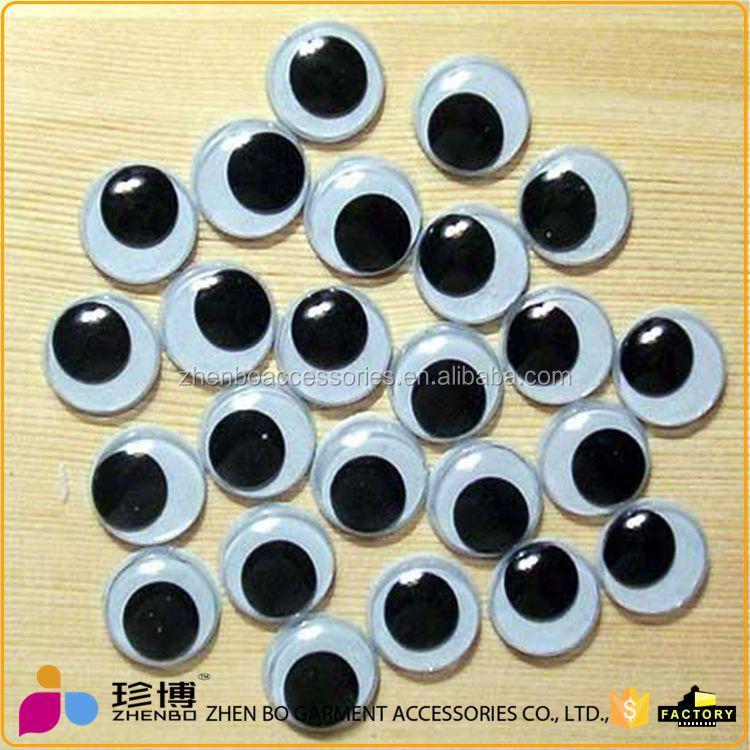 2017 Stock sale 10mm Sticker toy moving <strong>eyes</strong> for kids DIY