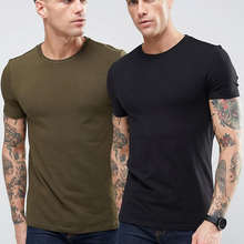 <span class=keywords><strong>Commercio</strong></span> <span class=keywords><strong>all</strong></span>'ingrosso Tinta Unita In Cotone 95% 5% Elastan T Shirt Sport Muscle Fit Stampa Personalizzata T Shirt Mens Tee shirts