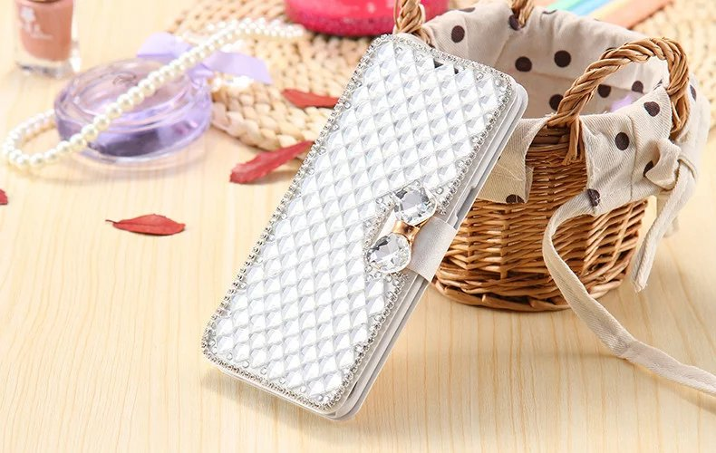 For Samsung S7 Wallet Holster Fashion Full Body Glitter Diamond Leather Case For Samsung Galaxy S7edge Flip Bling Rhinestone Bag