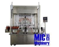 CE certificated and well-programmed Micmachinery MIC-ZF8 8 heads antiseptic filling machine