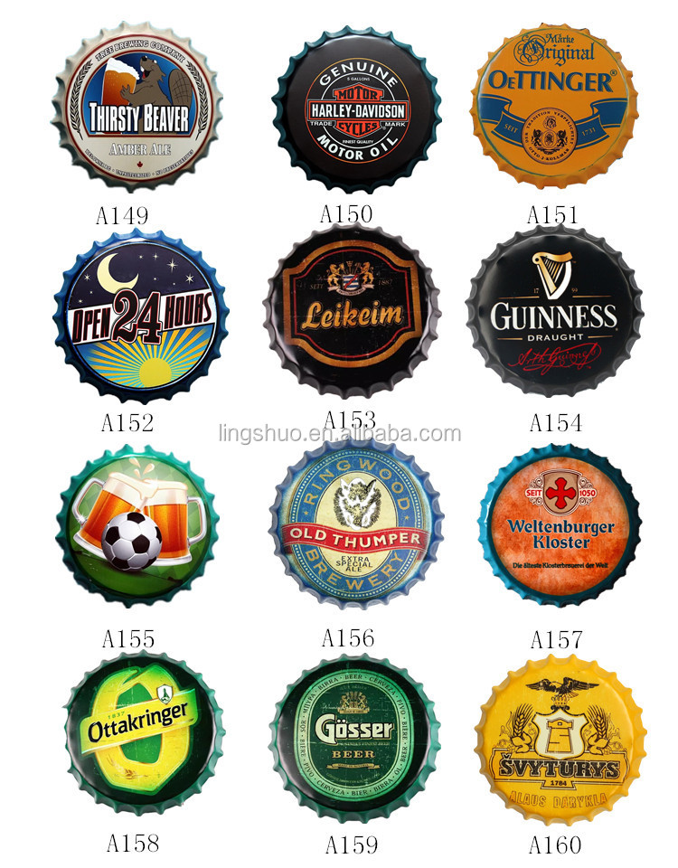 35 cm Big Size Brouwen Bier Crown Bottle Cap