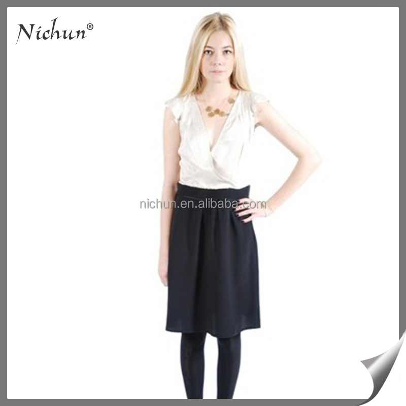 Simple Black and White Fashion Dress Clothes from Thailand