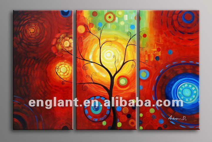 Abstract artwork the lovers tree scenery group oil painting