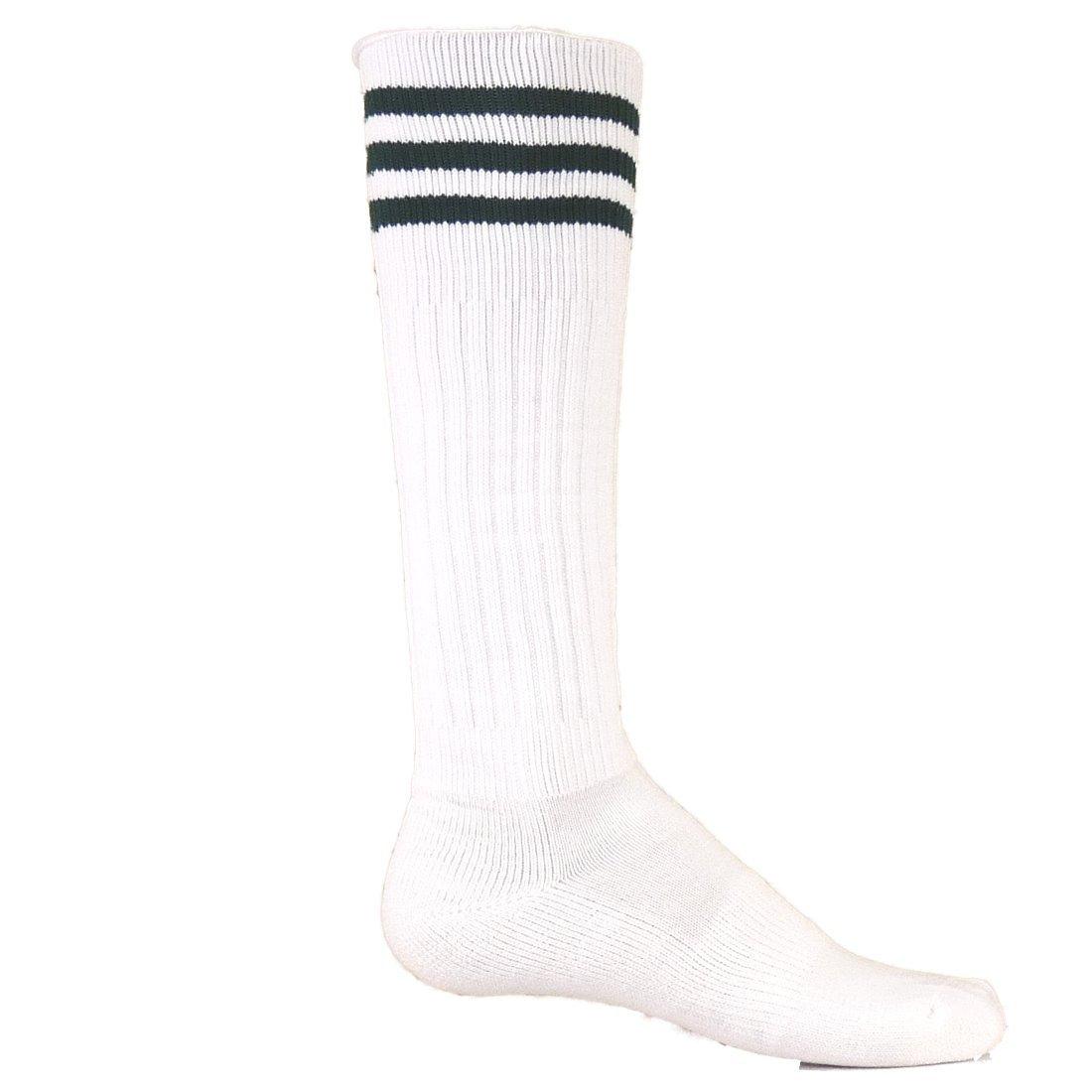 Red Lion Mach III Athletic Sport Wear High Knee Socks ( White / Black - Large )