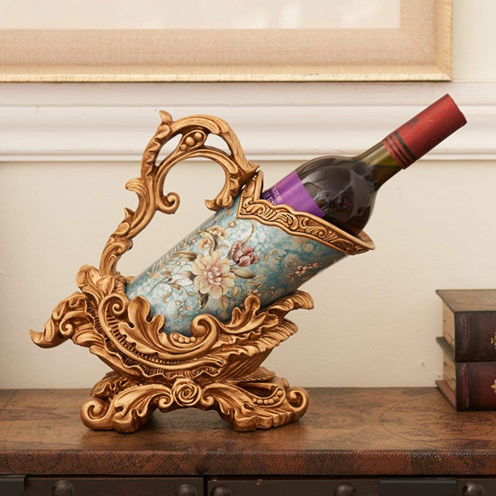 TY&WJ European style Retro Decoration Wine bottle holder Bar pub [restaurant] Creative [decoration] Wine shelf [household] Decoration Wine rack Crafts-C