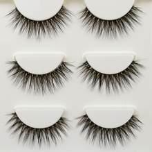 3 пары ресниц натуральные накладные ресницы длинные ресницы для макияжа многоразовые ресницы для красоты(Китай)