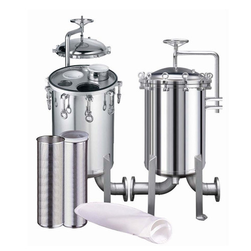 <strong>Industrial</strong> high-purity stainless steel bag filter housings / filter vessel