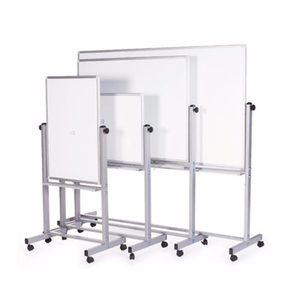 "Double Sided Reversible Mobile Dry Erase Magnetic Rolling Whiteboard 48"" x 36"" Easy Flip Feature"