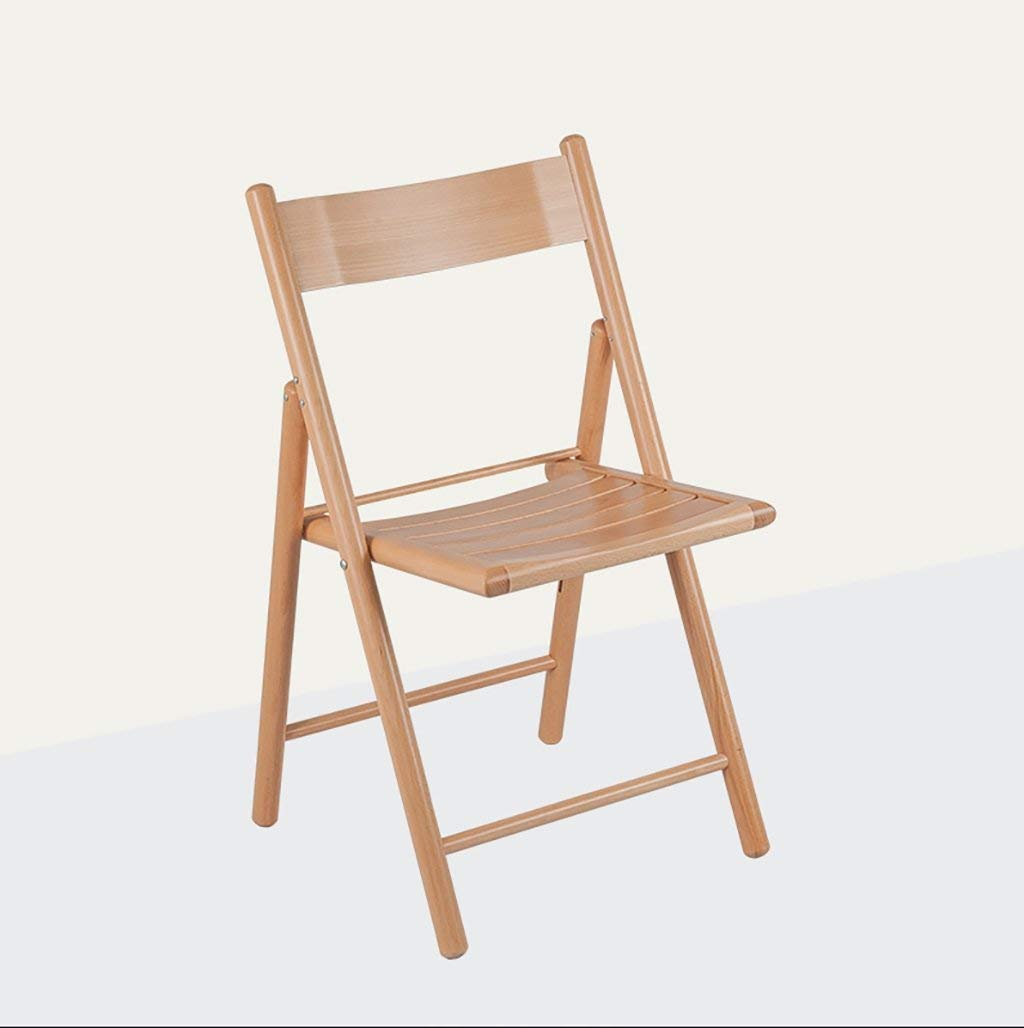 fold up chairs Solid wood folding chair wood office chair Modern simple portable beech home adult wood backrest chair Folding Chairs