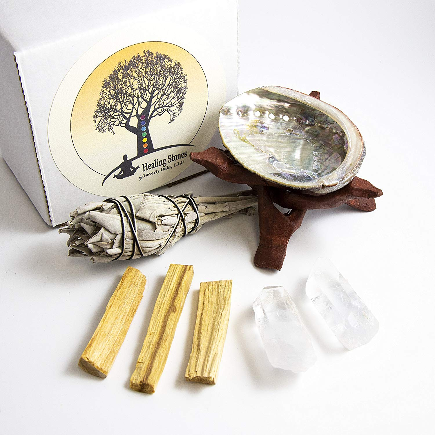 Protection Energy Clearing Meditation CircuitOffice Large California White Sage Smudge Stick,7-8 Long and 1.5 Wide for Smudging Rituals Cleansing