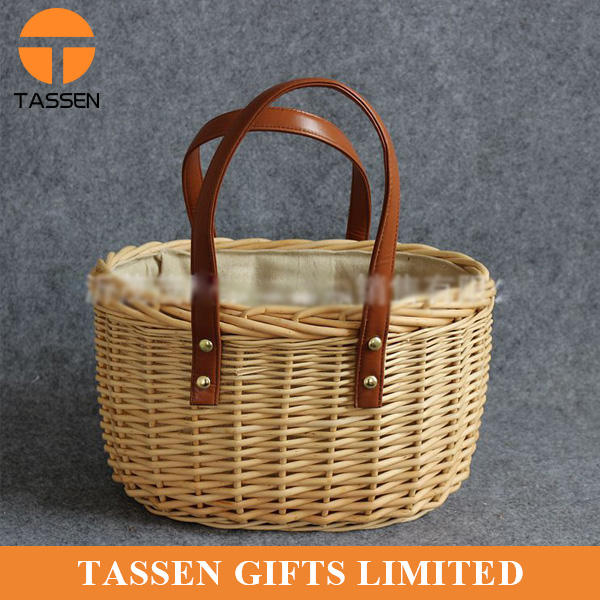 High quality cheap rattan bag fashion shopping basket bag rattan woven bag