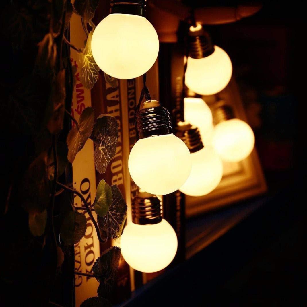 Yezijin Led Lights, Outdoor Decorative Lamp, LED Solar Powered String Light Bulb String Lamp Beads Wedding Fairy Decor (A)