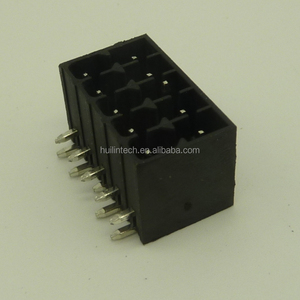 Double row 3.5mm male low voltage PCB pluggable terminal block