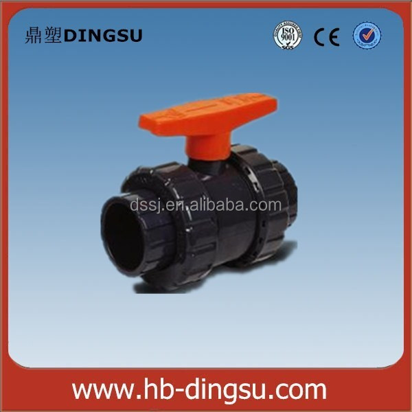 20mm pvc doble unión válvula de bola/válvula de bola de pvc/upvc válvula de bola Fabricantes de fabricación, proveedores, exportadores, mayoristas