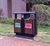 Decorative Outdoor Wooden recycling Park Garbage can trash bin trash can Waste Bins