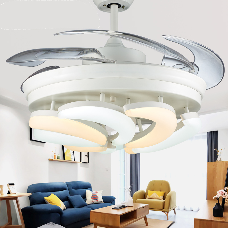 42 inch newest design hidden blades decorative lighting ceiling fancy fan