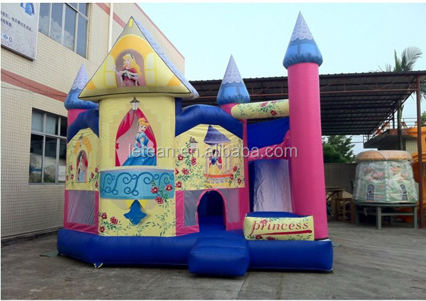 2014 New Arrival EU Standard Lovely Princess Inflatable Bouncy Castle For Sale