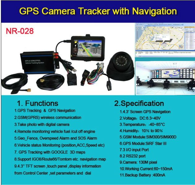 Car GPS&GSM Tracking Device With Free Google Map