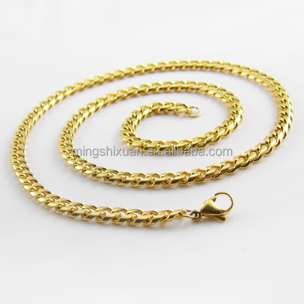 Factory Price Stainless Steel Whole Dubai New Gold Chain Design