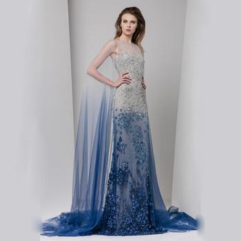 6b80a359e24 Little Flower Lace Applique Royal Blue And White Wedding Dresses With Wraps