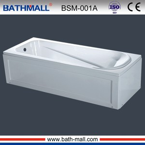 Hot removable plastic bathtub with control panels