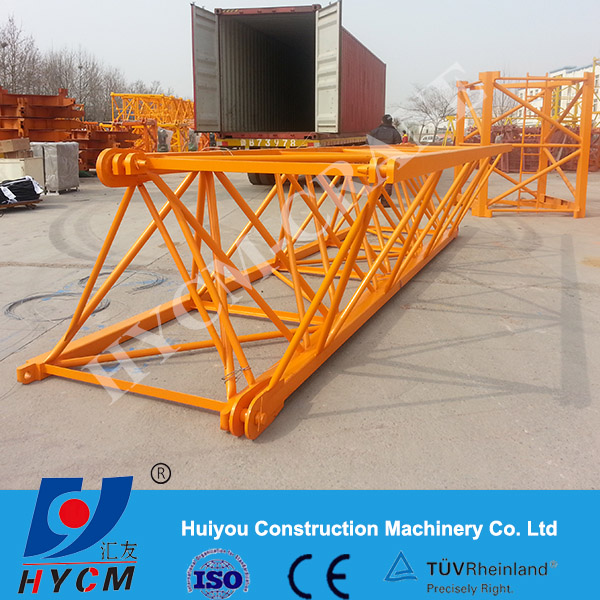 High quality self rised fixed luffing tower crane QTD D120 D250 WTL3035