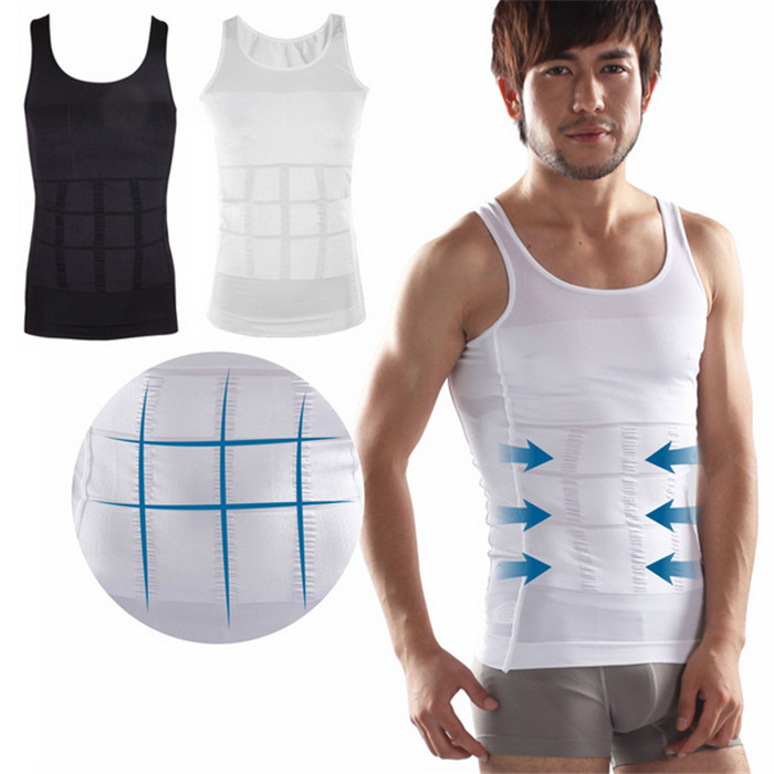 416fe95a14 Walmart Men Slimming Vest Tummy Control Shirt Male Beer Belly Slim  UnderShirt High Quality