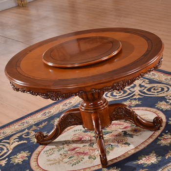 Dining Room Set Solid Rubber Wood Round