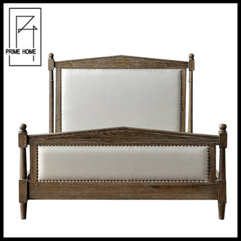 French vintage hotel room bedroom upholstered headboard for What is a french bed in a hotel