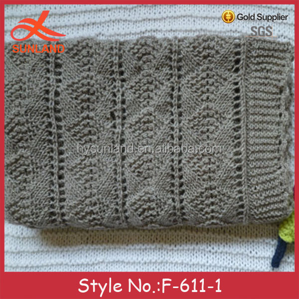 F-611new grey cable knit baby blanket fabric for wholesale