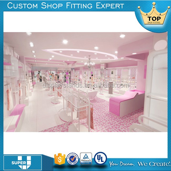 Tailor Made Fashion Lingerie Store Display Furniture