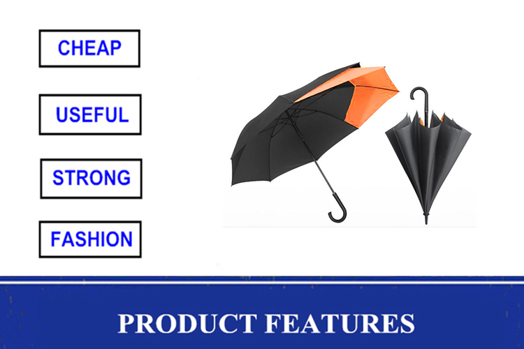 Unique two side extendable backpack golf long handle auto open straight expansible Promotional umbrella
