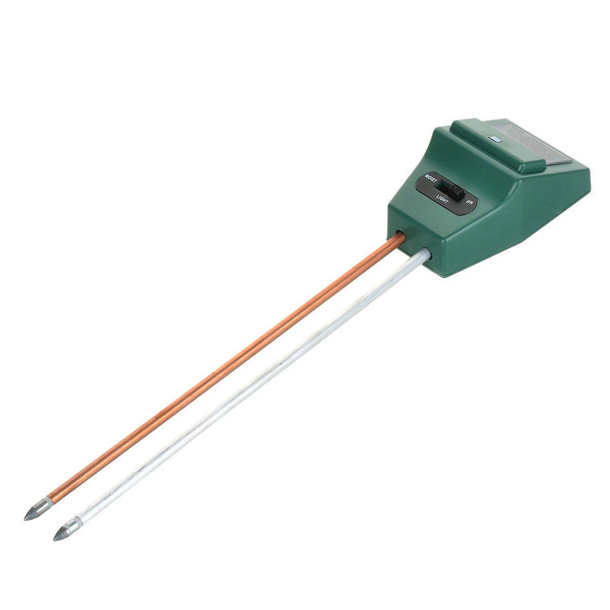 Soil PH Meter Test Kit Moisture, Light & PH Meter For Home And Garden, Lawn, Farm, Plants, Herbs & Gardening
