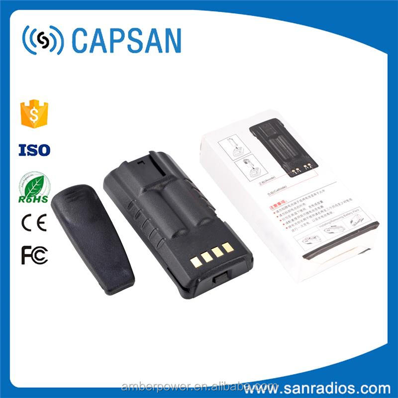 2016 high quality 2 way radio battery batteries rechargeable with SANYO 18650 Cell