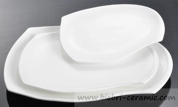 Oval Shape Design Super White Ceramic Porcelain Customized Dinner ...
