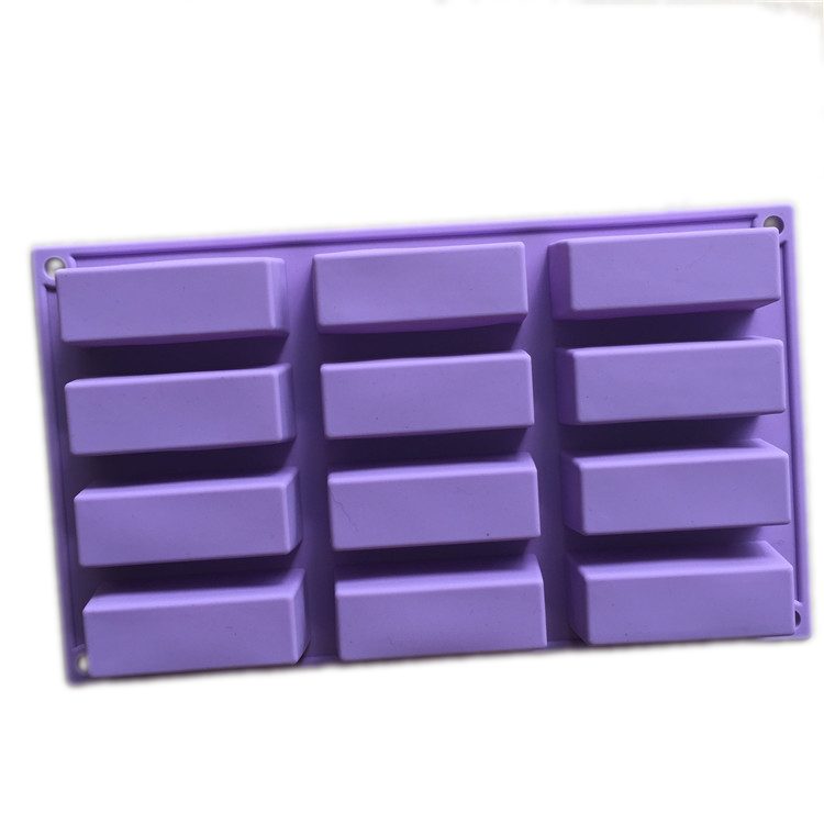 12 bar silicone rectangle soap mold for baking tray