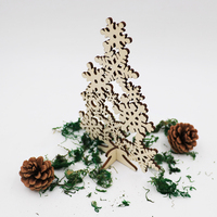 Home Decor Unfinished Wooden Christmas Tree