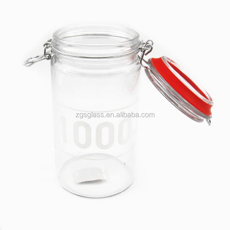 Kitchen Canister Mini Airtight 125ml Glass Storage Jar With Clip Lid