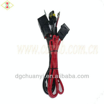 high quality motorcycle relay wire harness with fuse box