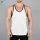 cheap blank gym mens stringer 95%Cotton 5%Elastane singlet wholesale clothing factory in China