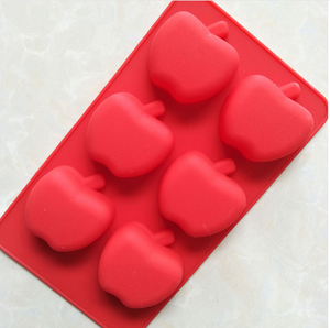 FDA Approved Fruit shape 6 cups mini apple shape silicone cake mold