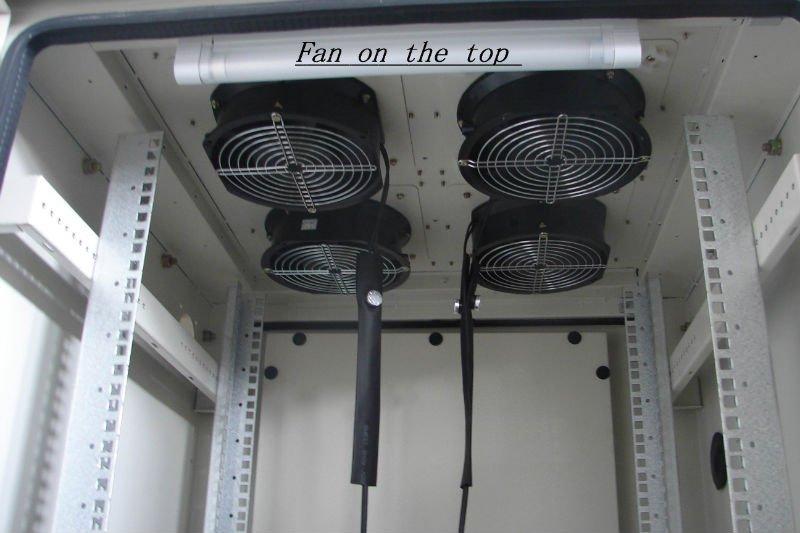 W Tel Fan Cooling Telecom Equipment Outdoor Rack Cabinet