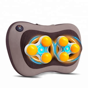 Car home use electric roll heat deep kneading body head back shoulder neck infrared shiatus cushion massage pillow with heating